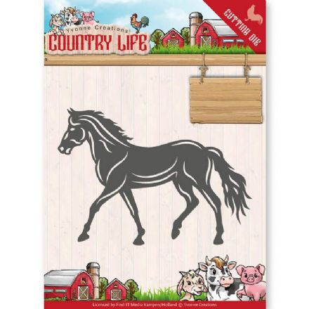 YCD10127 L ~ Horse ~ Country Life ~ Yvonne Creations
